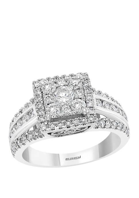 1.44 ct. t.w. Diamond Cluster Ring in 14K White Gold