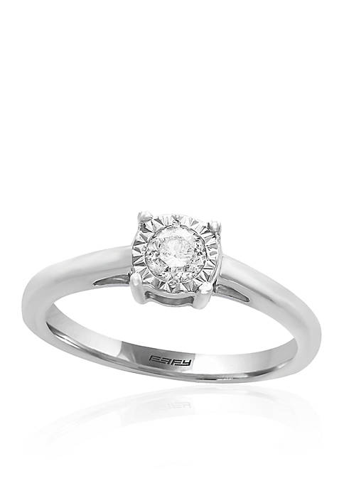 0.25 ct. t.w. Diamond Solitaire Ring in Sterling Silver