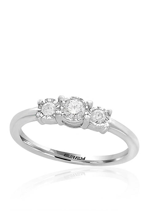 Effy® 0.24-ct. t.w. Diamond 3 Stone Ring in