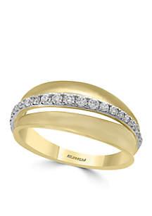 Effy® 14K White and Yellow Gold Diamond Ring