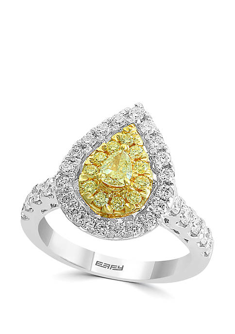 Effy® 1.21 ct. t.w. Cluster Diamond Ring with