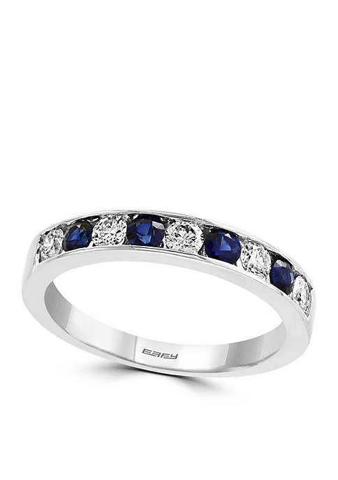 Effy® 3/8 ct. t.w. Diamond and Natural Sapphire