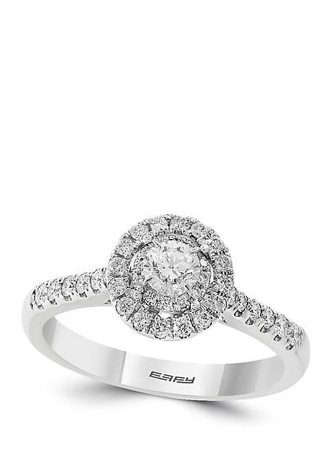 5/8 ct. t.w. Diamond Infinite Love Center Round Stone Engagement Ring in 14k White Gold