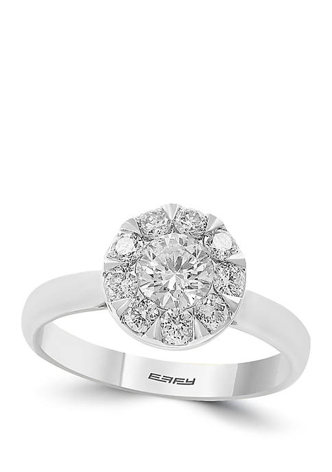 1.00 ct. t.w. Diamond Infinite Love Cluster Ring in 14k White Gold