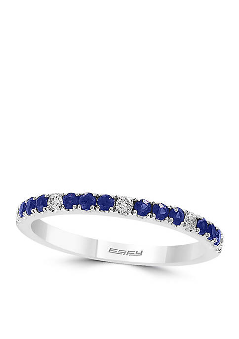 Effy® 1/10 ct. t.w. Diamond Natural Sapphire Band
