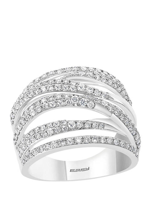 Effy® 1 ct. t.w. Diamond Bypass Ring in