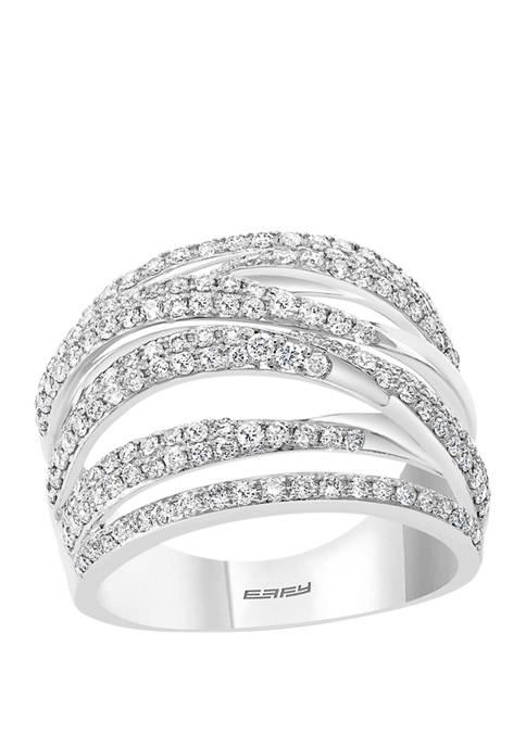 Effy® 1 ct. t.w. Diamond Bypass Ring in