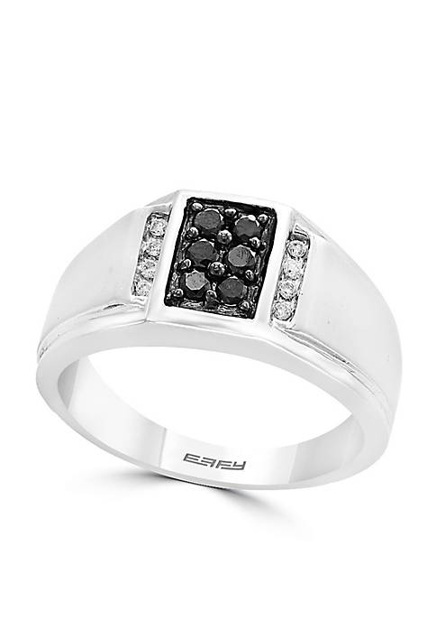 Effy® Sterling Silver Black Diamond Ring
