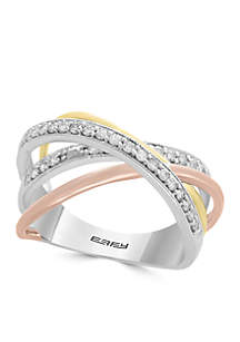 1/4 ct. t.w. Diamond Ring in 14k Yellow Gold, White Gold and Rose Gold