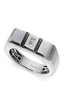 Effy® Men's 1/10 ct. t.w. Diamond Ring in 14k White Gold