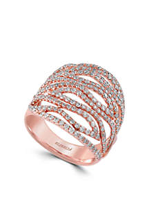 1.46 ct. t.w. Diamond Statement Ring in 14k Rose Gold