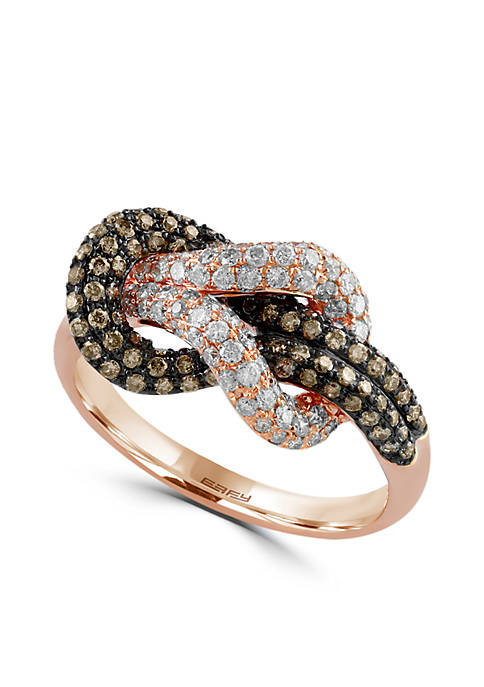 Effy® 7/8 ct. t.w. Diamond Espresso Diamond Ring
