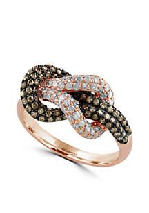 7/8 ct. t.w. Diamond Espresso Diamond Ring in 14k Rose Gold