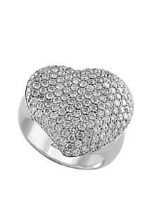 2.03 ct. t.w. Diamond Heart Ring in 14k White Gold