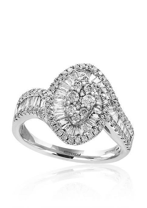 Effy® 1.03 ct. t.w. Diamond Ring in 14K