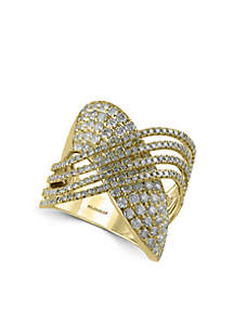 Effy® 2.13 ct. t.w. Diamond Statement Ring in 14k Yellow Gold
