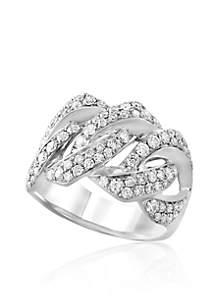 1.14 ct. t.w. Diamond Ring in 14K White Gold