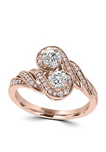 2.15 ct. t.w. Diamond Ring in 14k Rose Gold