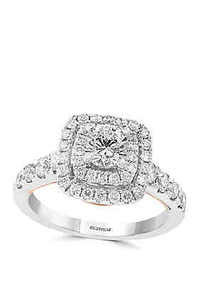 9e909e87d t.w. Diamond Engagement Ring with Infinity Symbol in 14k White and ...