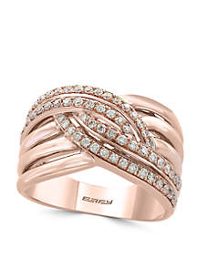1/2 ct. t.w. Diamond Statement Ring in 14k Rose Gold