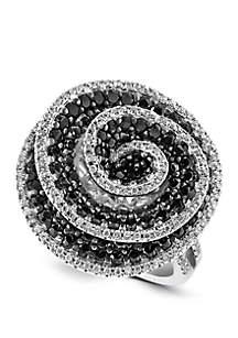 Effy® 2.21 ct. t.w. Black and White Diamond Ring in 18K White Gold
