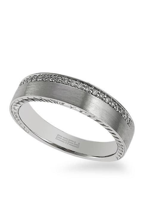 Effy® Mens 1/8 ct. t.w. Diamond Ring in