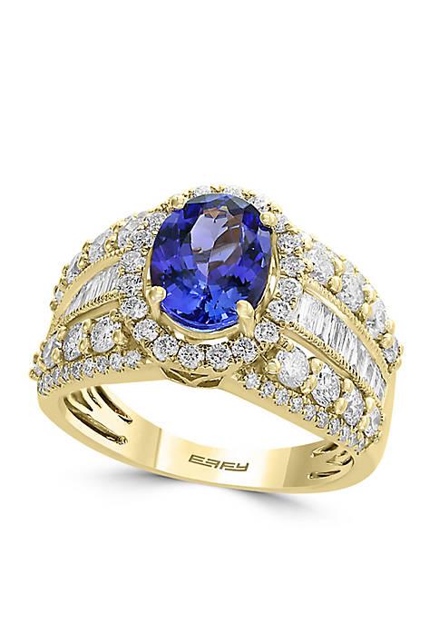 Effy® 1.59 ct. t.w. Diamond and Tanzanite Ring