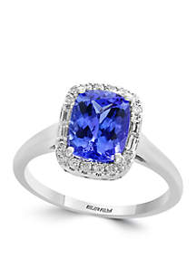 3.14 ct. t.w. Tanzanite and 1.05 ct. t.w. Diamond Ring in 14k White Gold