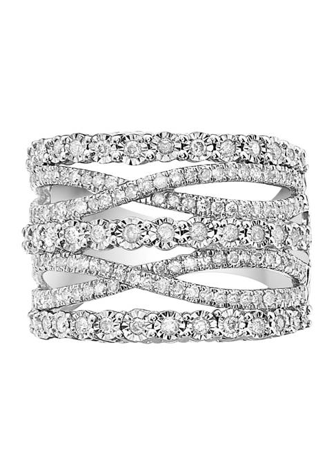 Effy® 1 ct. t.w. Stacked Diamond Ring in