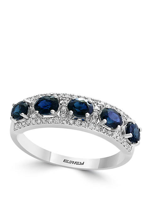 Effy® 1.35 ct. t.w. Diamond Natural Sapphire Band