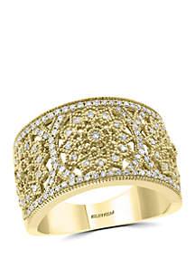 Effy® 3/8 ct. t.w. Diamond Ring in 14k Yellow Gold