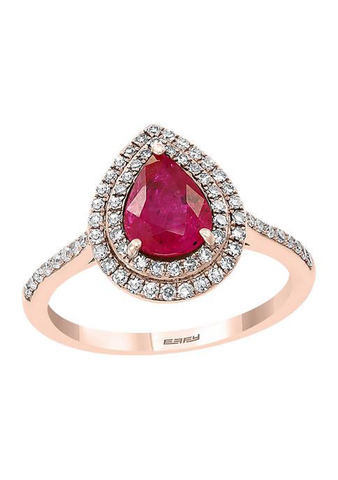 Effy® 14k Rose Gold 1/3 ct. t.w. Diamond