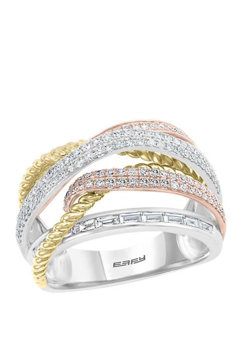 Effy® 3/4 ct. t.w. Diamond Ring in 14K