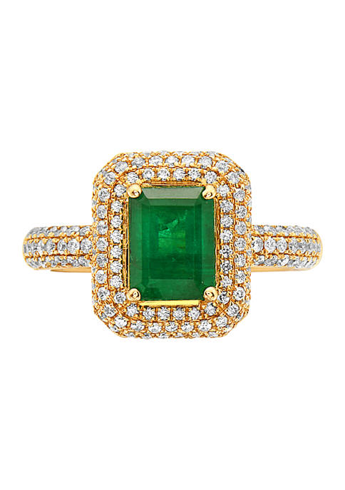 Effy® 1.42 ct. t.w. Emerald and 1/2 ct.
