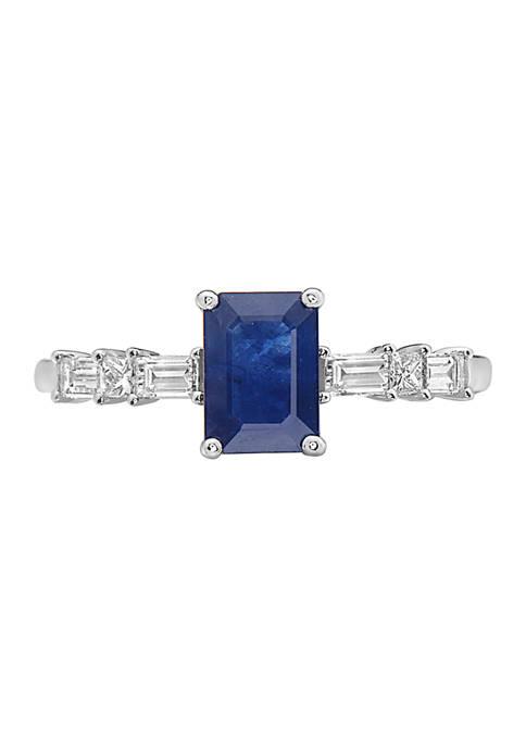 Effy® 1.05 Sapphire and 1/4 ct. t.w. Diamond