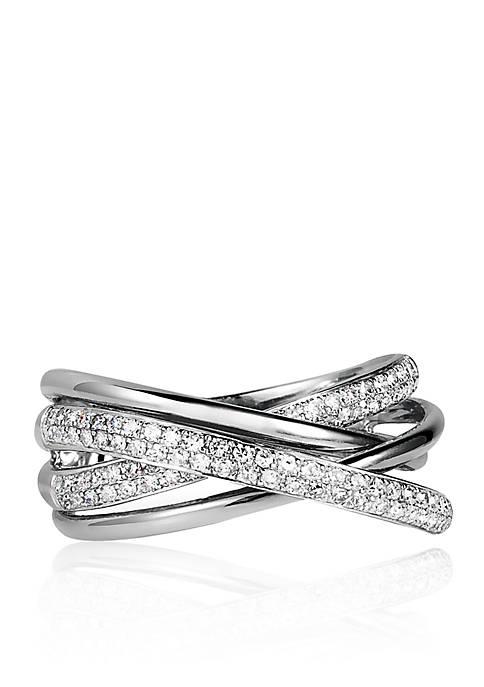 Effy® 0.40 ct. t.w. Diamond Crossover Ring in