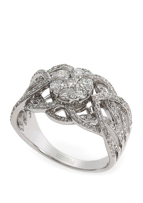 Effy® 0.98 ct. t.w. Diamond Ring in 14k