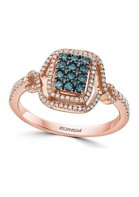 Effy® 1/2 ct. t.w. Diamond Ring in 14K