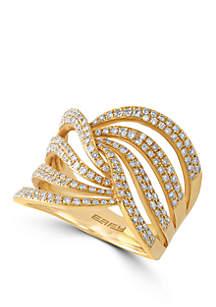 Effy® 3/4 ct. t.w. Diamond Ring in 14k Yellow Gold