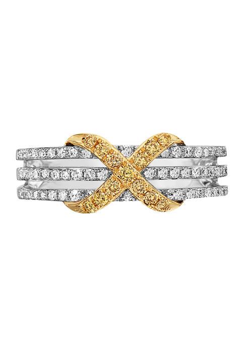 Effy® 1/3 ct. t.w. Diamond Canaré Ring in