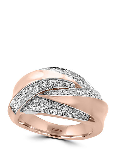 3/8 ct. t.w. Diamond Ring in 14K Rose Gold