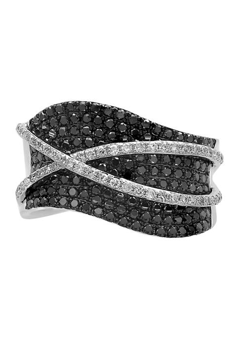 Effy® 1.09 ct. t.w. Diamond and Black Diamond
