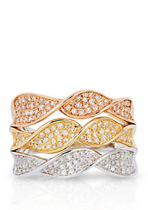 Effy® 5/8 ct. t.w. Diamond Ring in 14k White, Yellow, and Rose Gold