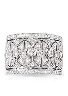 1/2 ct. t.w. Diamond Band Ring in 14k White Gold