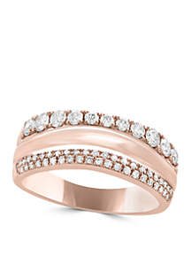 Effy® 5/8 ct. t.w. Diamond Band Ring in 14k Rose Gold