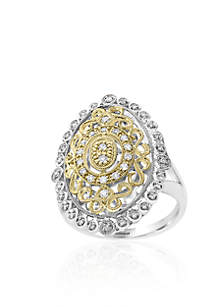 0.24 ct. t.w. Diamond Two-Tone Ring in 14k White and Yellow Gold