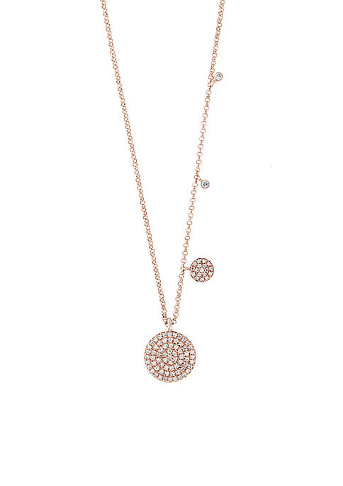 Effy® 1/4 ct. t.w. Diamond Necklace in 14k