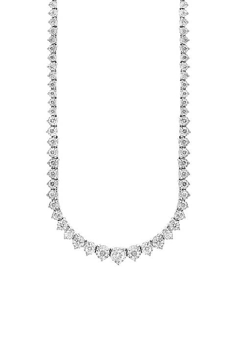 2.91 ct. t.w. Diamond Tennis Necklace in 14k White Gold