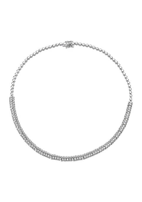 Effy® 7/8 ct. t.w. Diamond Necklace in Sterling