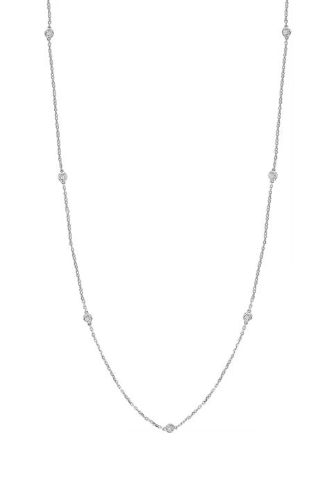 Effy® 1/4 ct. t.w. Diamond Station Necklace in